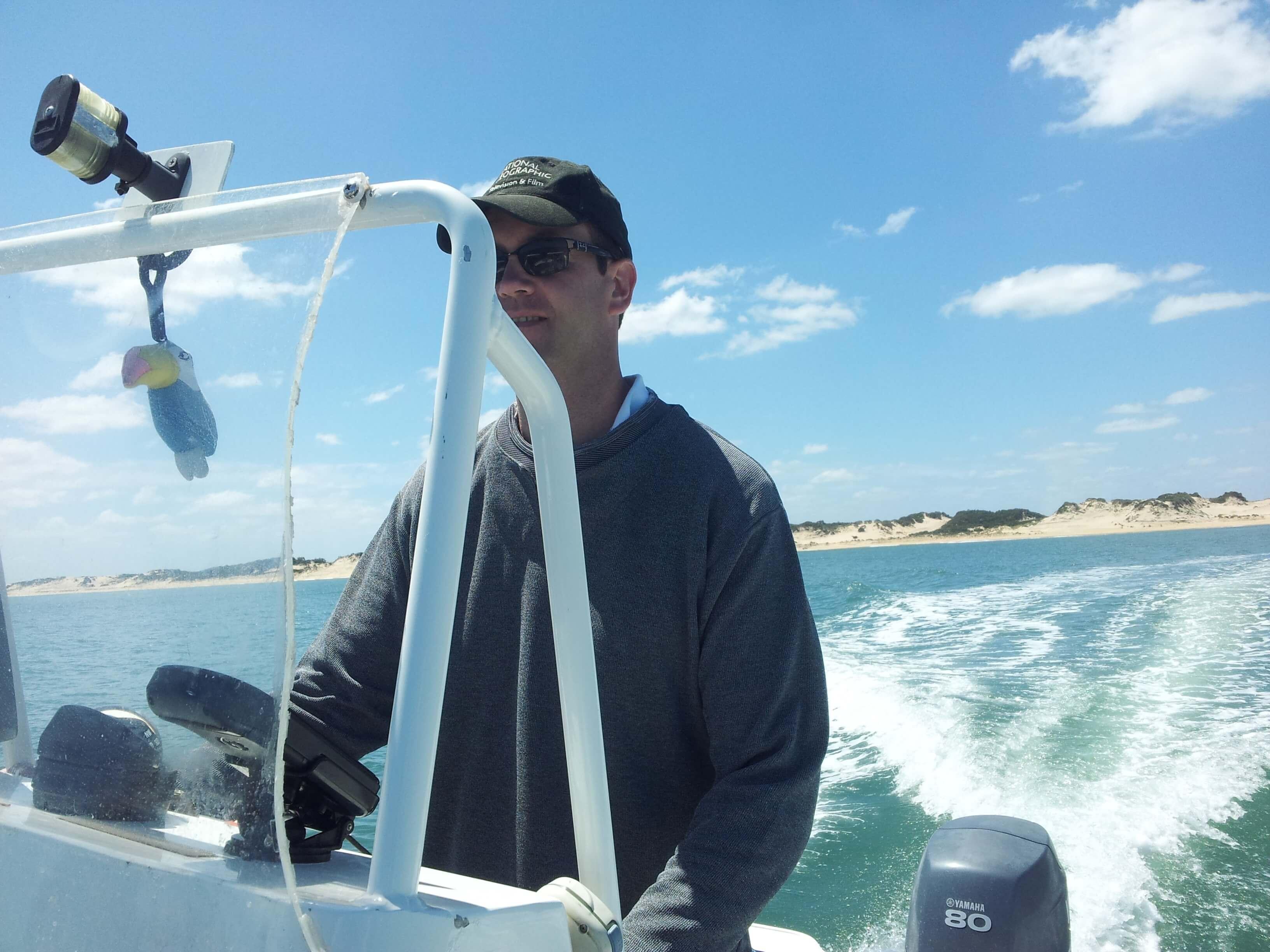 Oliver on boat